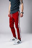 Красные штаны с лампасами, спортивные штаны с лампасами (red)