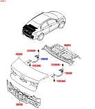 Петля крышки багажника левая, Kia Rio 2011-14 QBR, 792104y000, фото 3