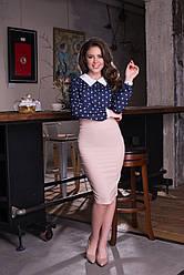 Классическая узкая юбка-карандаш
