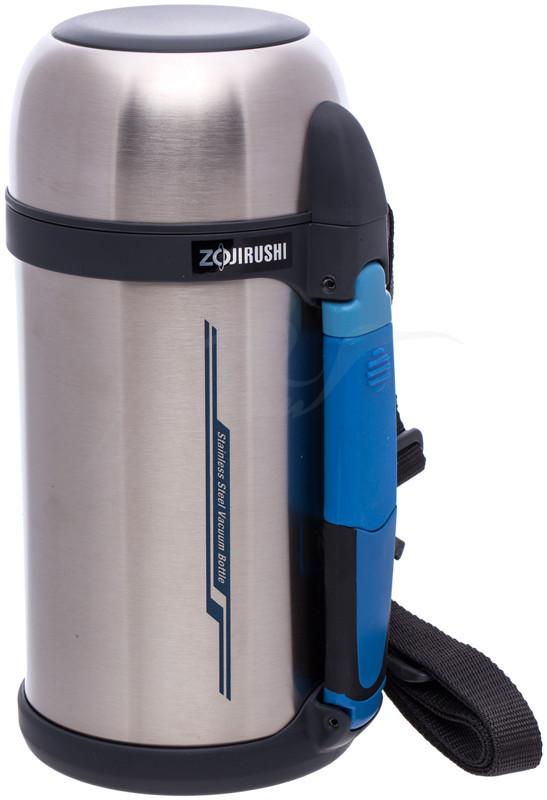 Термос Zojirushi SF-CС13ХA 1.3 л (складная ручка+ремешок) стальной