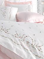 Комплект белья сатин с вышивкой Dantela Vita   Buket, фото 1