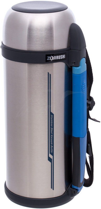 Термос Zojirushi SF-CС18XA 1.8 л (складная ручка+ремешок) стальной