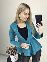 Женский стильный двубортный пиджак