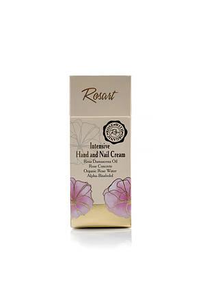 Інтенсивний крем для рук і нігтів з маслом троянди RosArt Bulgarian OrganiRose 50 мл, фото 2