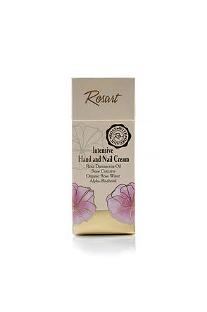 Интенсивный крем для рук и ногтей с маслом розы RosArt Bulgarian OrganiRose 50 мл, фото 2