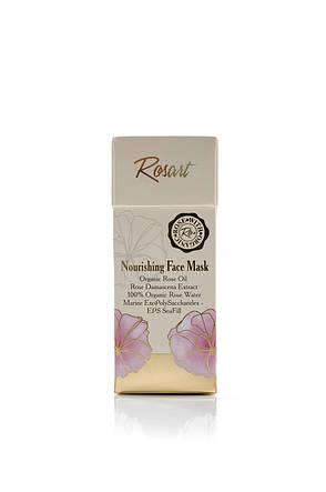 Питательная маска для лица с маслом розы RosArt Bulgarian OrganiRose 50 мл, фото 2
