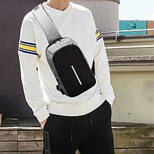 Антивор сумка через плечо с одной лямкой