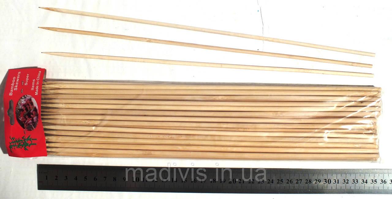 Шпажки бамбуковые, 35 см, диаметр - 5 мм.