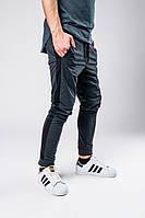 Серые мужские спортивные штаны с лампасами, серые штаны с черными лампасами