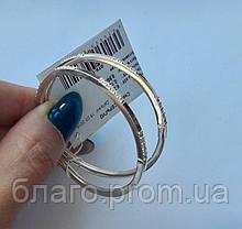 Срібні сережки кільцями кола 2 діаметр 4,5 см