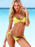 Женский купальник пуш-ап Victoria's Secret жёлтый