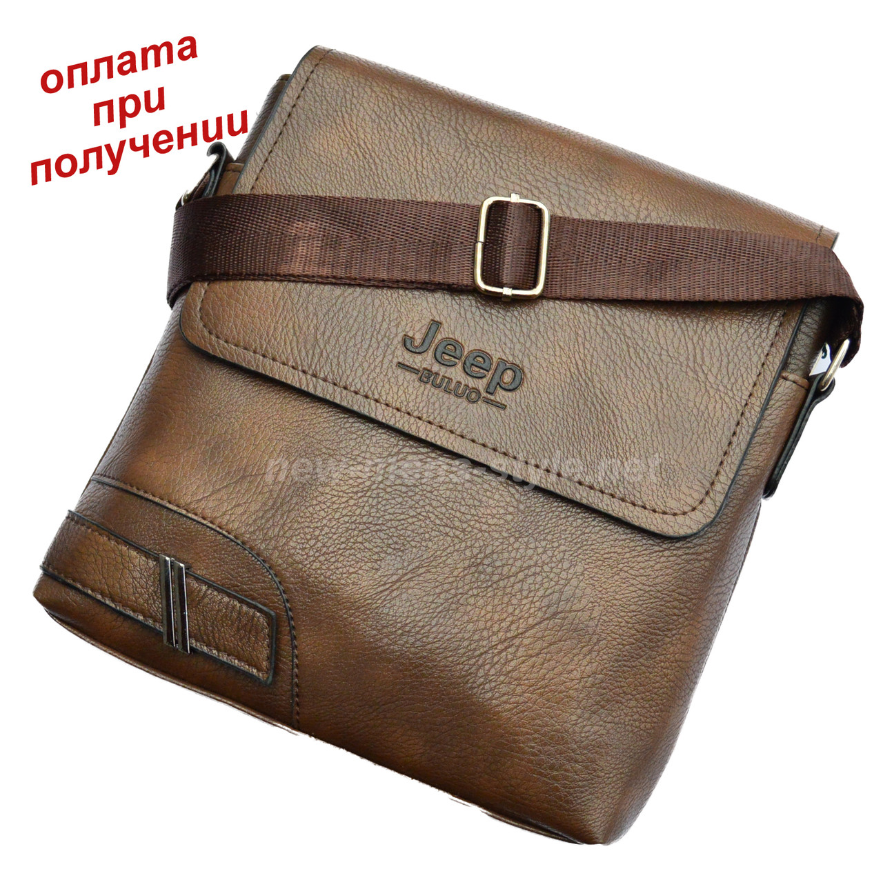 Мужская стильная чоловіча кожаная сумка барсетка борсетка JEEP новинка