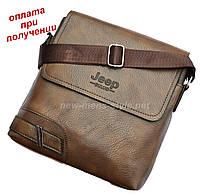 Мужская стильная чоловіча кожаная сумка барсетка борсетка JEEP новинка, фото 1