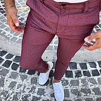 Новые Мужские Турецкие Бордовые Брюки Slim Fit 100% Cotton Мужские Штаны Красные VIP-Качества