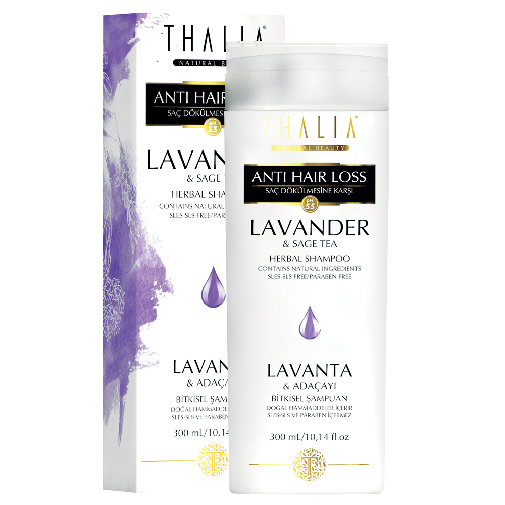 Шампунь Thalia от выпадения волос с экстрактом лаванды и шалфея 300 мл (3601013)