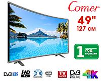 """Телевизор Comer 49"""" Smart TV, Wi-Fi, E49DU1000 Изогнутый, Оригинал, фото 1"""