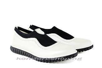 Туфли  женские кожаные , белые  V 1230
