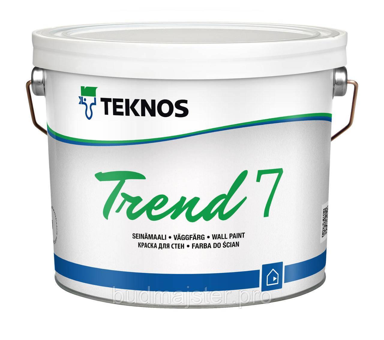 Фарба Teknos TREND 7 для стін, 2,7 л