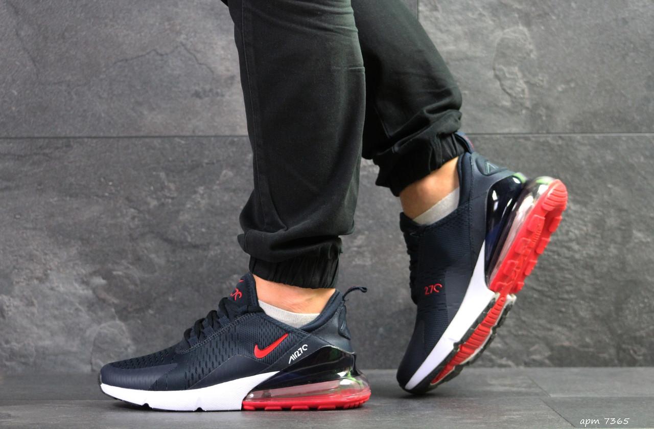 Мужские кроссовки Nike Air Max 270,темно синие с красным 44,46р
