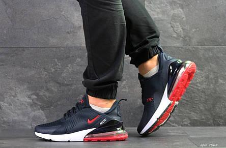 Мужские кроссовки Nike Air Max 270,темно синие с красным 44,46р, фото 2