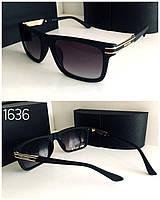 Мужские очки  Prada черные в матовой оправе