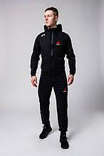 Мужской спортивный костюм Reebok (black), черный спортивный костюм Рибок