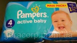Подгузники  Pampers Active baby 4 (9-14 кг)  62 шт