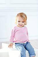 Свитер в горизонтальную полоску  для девочки  Серо-Розовый, фото 1