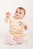 Костюм для малышей с вышивкой единорога | Пудра, фото 1