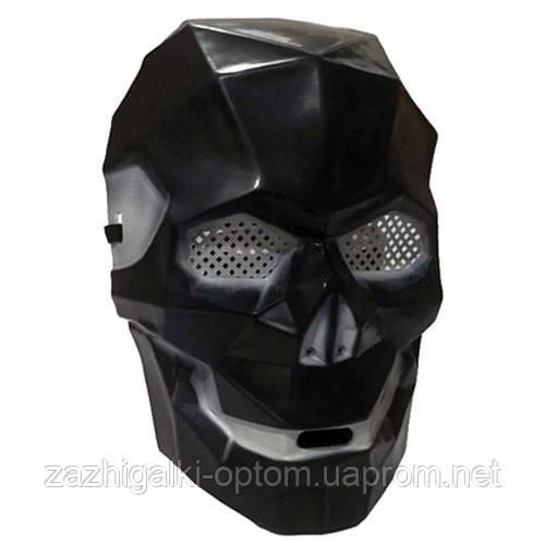 Маска пластик Кіборг череп (чорний) *