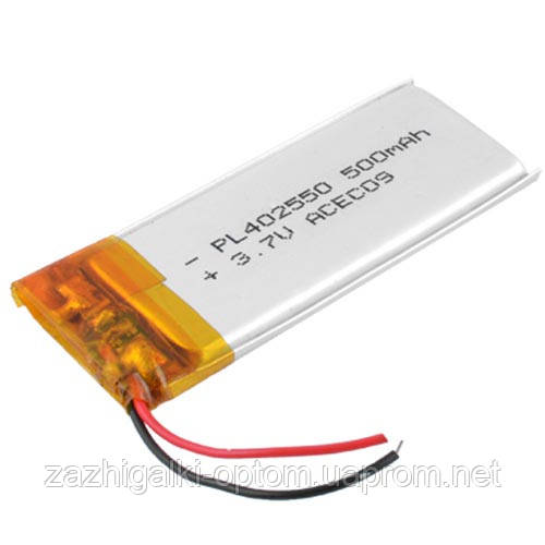Аккумулятор литий-полимерный 402550, 500mAh