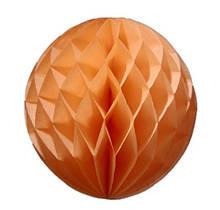"Шар бумажный ""Соты"" - 5см оранжевый"