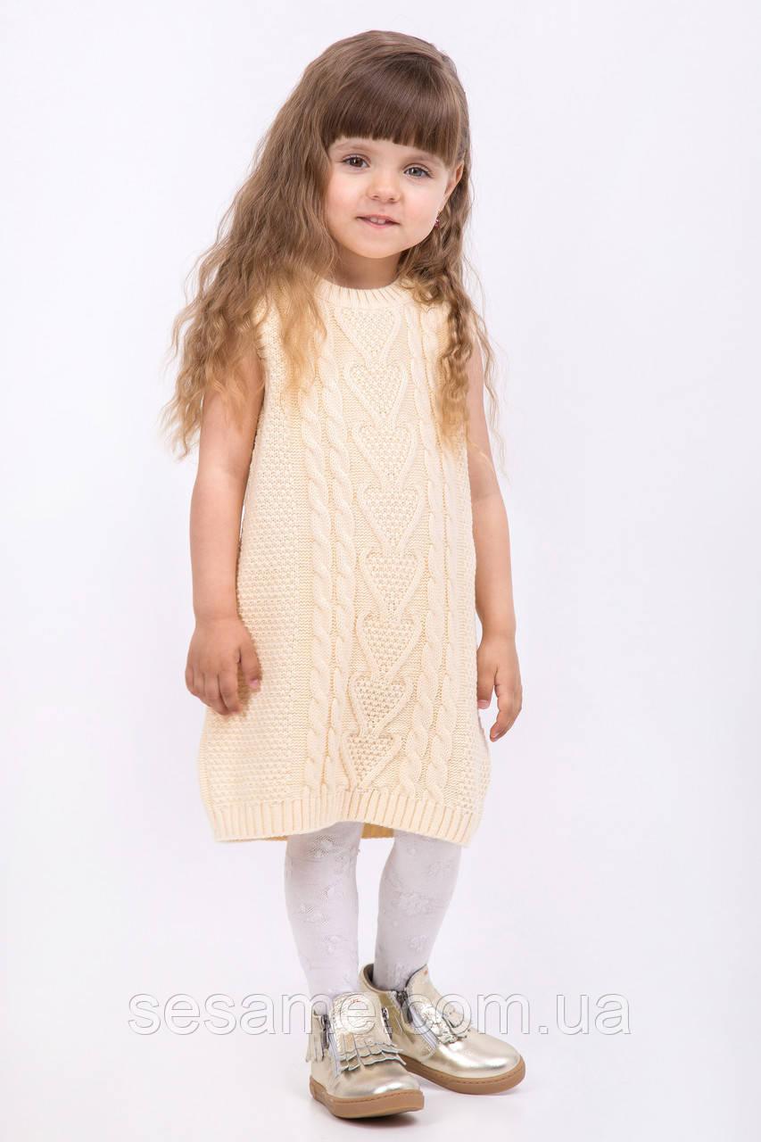 Платье туника без рукавов крупной вязки | Бежевый