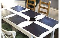 Шкіряні сети на стіл для ресторану, бару, кафе Leather sets2, Шкіряні мережі на стіл для ресторану, фото 1