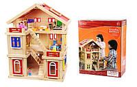 Кукольный домик с мебелью ручной деревянный дом TNWX-1269