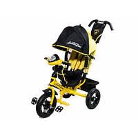 Детский трехколесный велосипед Lamborghini Air черный с желтым (2000 Ч)