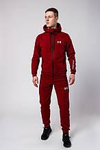 Мужской спортивный костюм Under Armour (burgundy), бордовый спортивный костюм