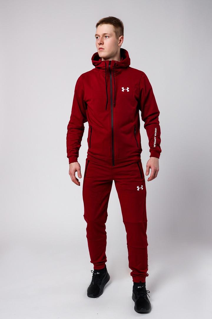 ed5ac4a57fc Мужской спортивный костюм Under Armour (burgundy), бордовый спортивный  костюм