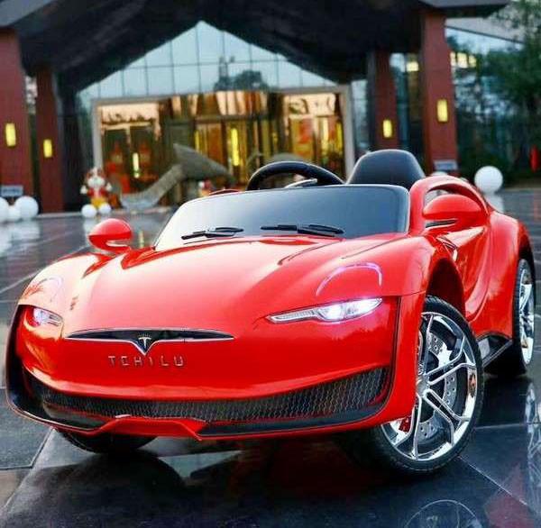 Детский электромобиль с пультом Tesla T-7636 красный