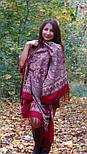 Лучезарный 665-5, павлопосадский платок шерстяной с шелковой бахромой, фото 4