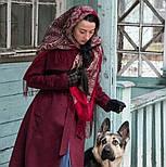 Лучезарный 665-5, павлопосадский платок шерстяной с шелковой бахромой, фото 10