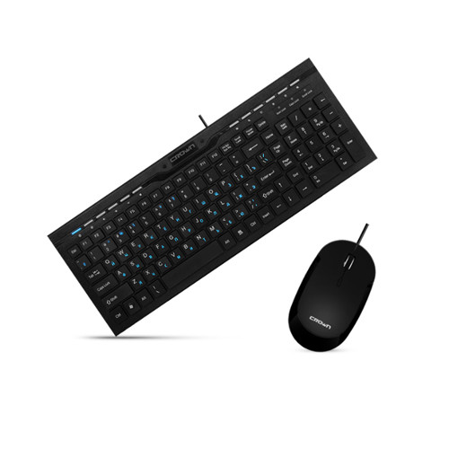 Комплект Crown CMMK-855 USB Black