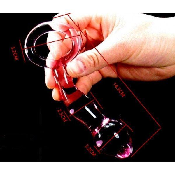 Анальная игрушка из стекла