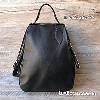 Женский стильный рюкзак кожа + плащевка