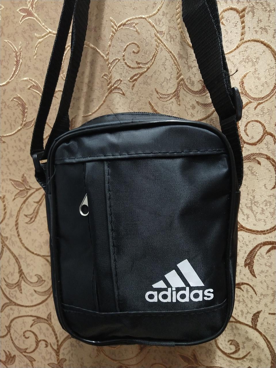 f6b1593db57b (18*14-маленький)Спортивные барсетка adidas Водонепроницаемая сумка для  через плечо только оптом