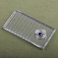 Стеклянный планшет для ресниц и клея