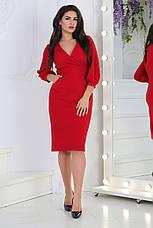Платье на запах, №107, красное., фото 2