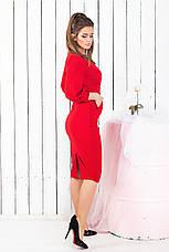Платье на запах, №107, красное., фото 3