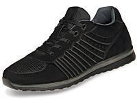 Мужские модные кожаные кроссовки черные 41 размер Mida 111034 9610ead5c23a8