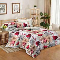Полуторный комплект постельного белья 150 220 сатин (10549) TM КРИСПОЛ  Украина 0ed18f1858bfd